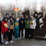 Участники л/атлетического пробега 2 февраля