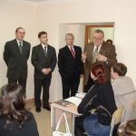 встреча ректора В.И.Петрова со студентами на открытии факультета