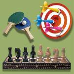 Дартс, шахматы, настольный теннис