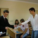 вручение студенческих билетов первым студентам факультета