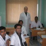 Иностранные студенты на занятии у И.С. Колпакова
