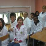 Е.В. Белобородова с иностранными студентами