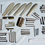 Множественные металлические инородные тела извлеченные из желудка оперативным путем