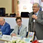 С приветственным словом к участникам конференции обращается Президент Всемирной федерации водолечения и климатолечения (FEMTEC), профессор Умберто Солимене (г. Милан, Итальянская Республика).