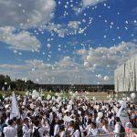 Первокурсники ВолгГМУ приняли участие во Всероссийском параде студенчества