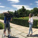 Екатерина Прямухина, выпускница ВолгГМУ (5 курс, стомат. ф-т) во время предзаписи для эфира в проекте «Алые паруса» - Пятый канал